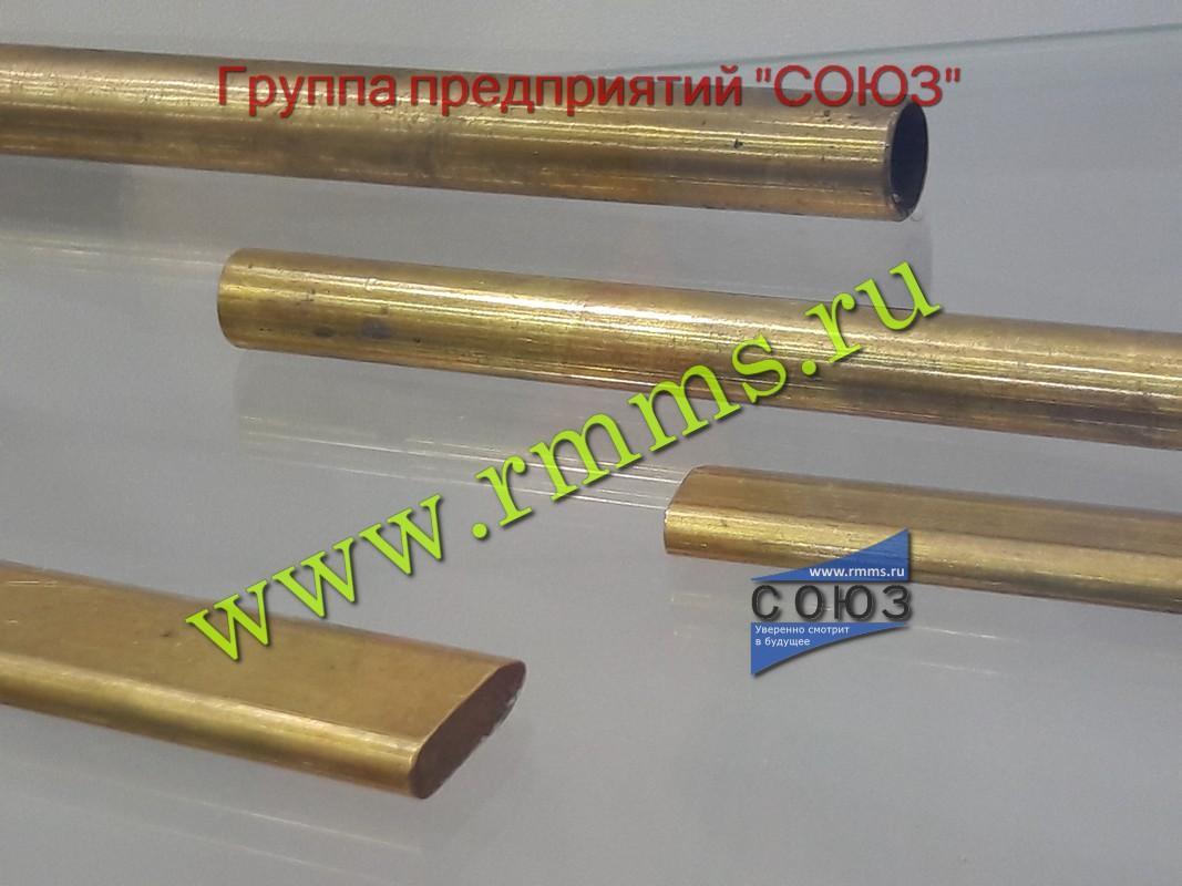 Фото профильных латунных труб